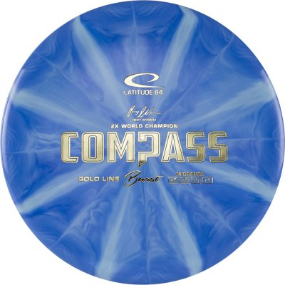 Latitude 64 Gold Burst Compass